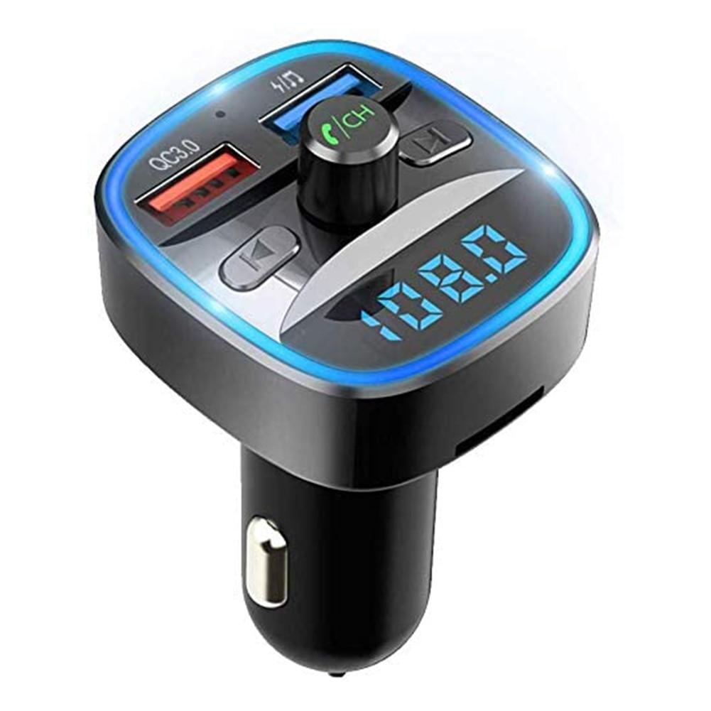 Cargador USB VIP LINK accesorios para coche manos libres T25S transmisor FM Bluetooth Kit de manos libres para el automóvil reproductor MP3 cargador USB QC3.0