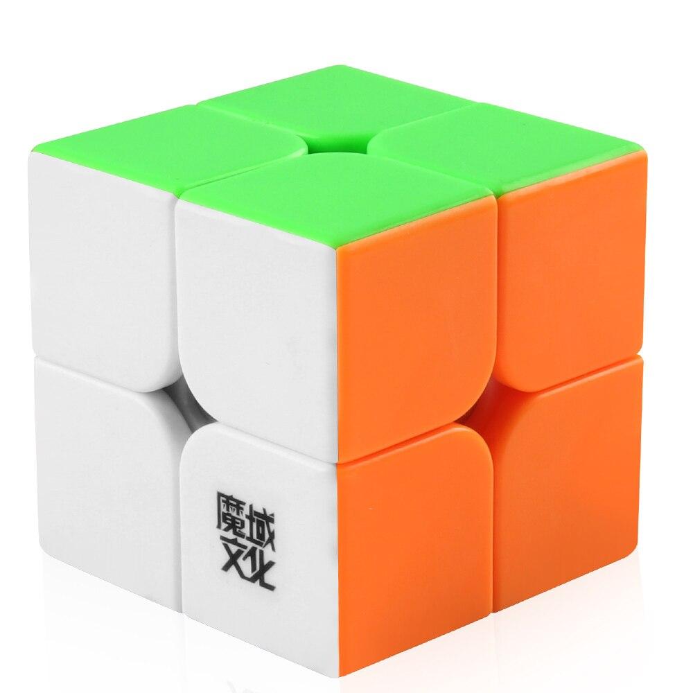 Скоростной куб Coogam Moyu Weipo 2x2x2, магический куб 2x2, пазл без наклеек, игрушки для детей и взрослых