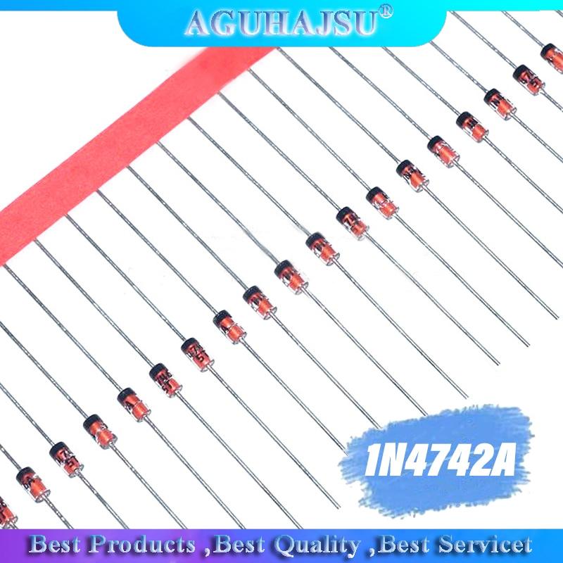 100pcs 1W  diode DO-35 1N4742A 12V 1N4741A 11V 1N4740A 10V 1N4739A 9V1 1N4738A 8V2 1N4737A  7V5 1N4736A 6V8