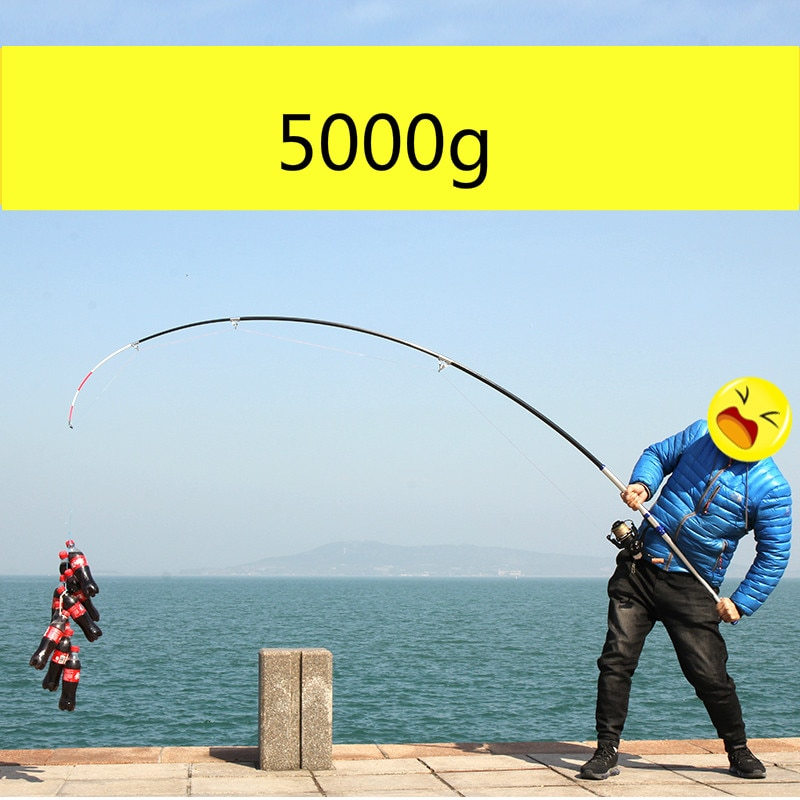 Carbon 2.1M -4.5M Spinning Fishing Rod M Power Telescopic Rock Fishing Peche Carp Feeder Canne De Pesca Wedkarstwo Olta Anchor enlarge