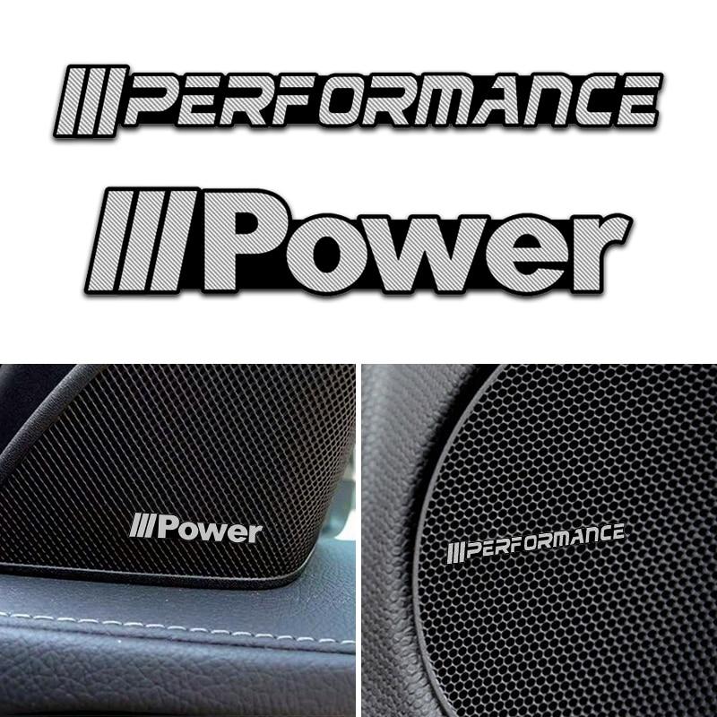4pcs Car styling speaker alumínio 3D som adesivo adesivos Para BMW M Poder Desempenho X1 X3 X4 X5 X6 F15 F16 F18 F10 F25 F30