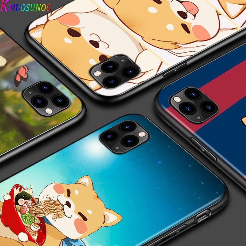 Silikon Abdeckung Nette Cartoon Corgi Für IPhone 12 Mini 11 SE XS Pro Max XR X 8 7 6S 6 Plus 5 5S Telefon Coque Fall