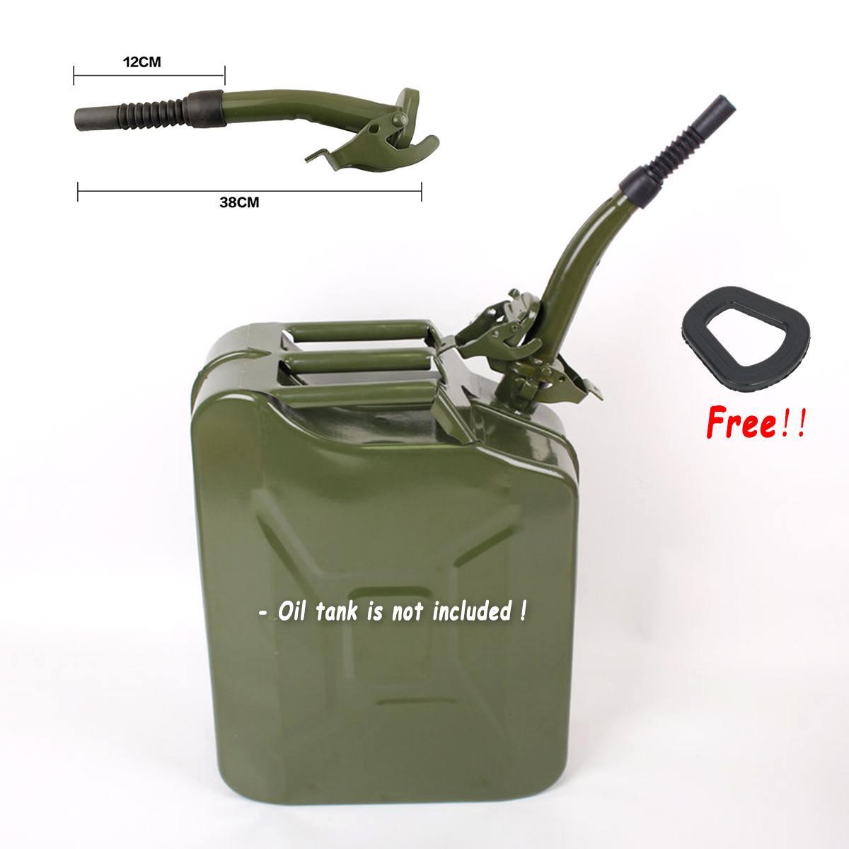 Para bidón de 5/10/20 litros de Metal de goma jerry Jerry Can verting boquilla Flexible gasolina combustible sello 38cm + junta de sellado