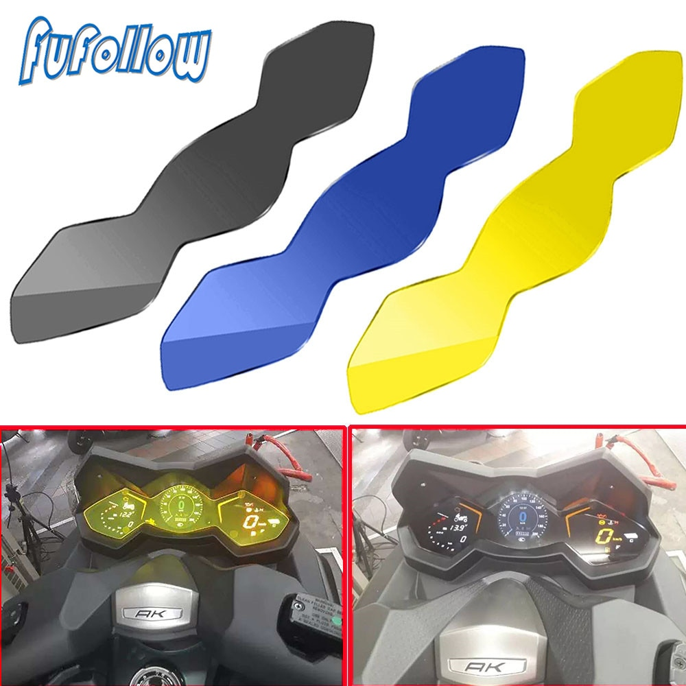 Fluorescent Yellow Instrument Film Cover FOR AK 550 AK550 Motorcycle Fleet Scratches Speedometer Film Screen Protector 2017-2020