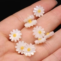 61012mm natural flower seashell beads mother of pearl spacer bead for necklace jewelry making diy women gifts accessories