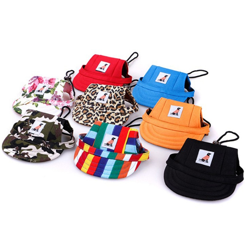 Sun Hat Pet Dog Caps Small Puppy Pets Summer Print Cap Dog Baseball Visor Outdoor Accessories Sun Bonnet Cap Chihuahua Product
