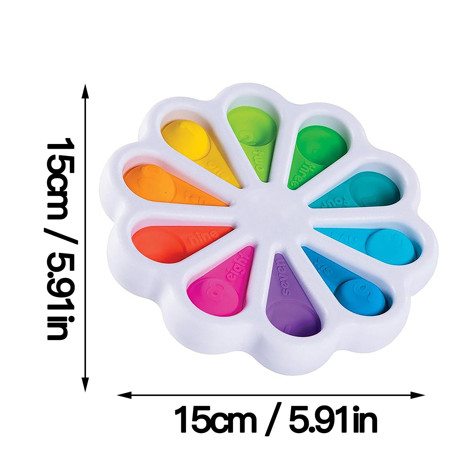 Fidget Dimple Toy Stress Relief Hand Toys for Kids Easy To Use Soft Silicone Children Toys Antistress Hand Fidget Toys enlarge