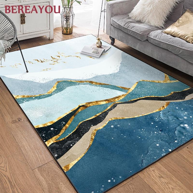 Alfombras nórdicas Art deco abstractas rectangulares alfombra de hogar sala de estar alfombra para piso de habitación cocina alfombra tapiz chambre enfant