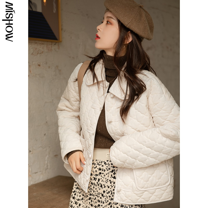 CMAZ 2020 Winter Parkas For Women Warm Thick Plaid Outdoor Outerwear Outdoor Jackets Casual Outwear
