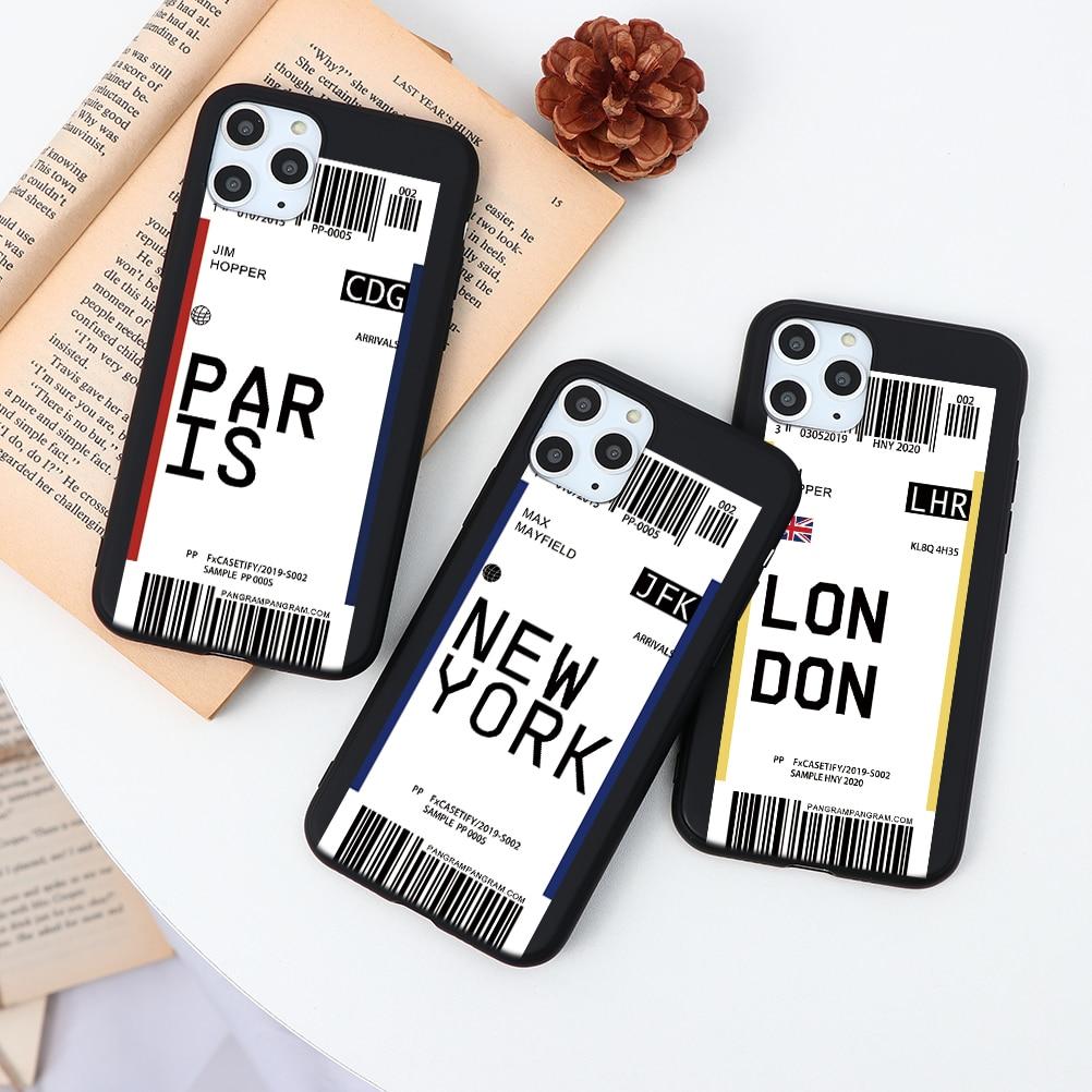 Hot ins Bar Label World City Ticke Phone Case For Huawei nova 5i Pro 6 SE 3 3i 3e 4 4e Case Fundas Silicone For Huawei nova 6 SE