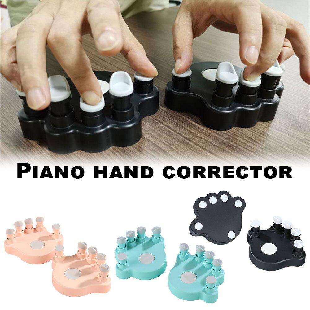 1 пара тренажеров для пальцев пианино с 5 круглыми клавишами для захвата струнный инструмент Аксессуары для пальцев захват тренажер