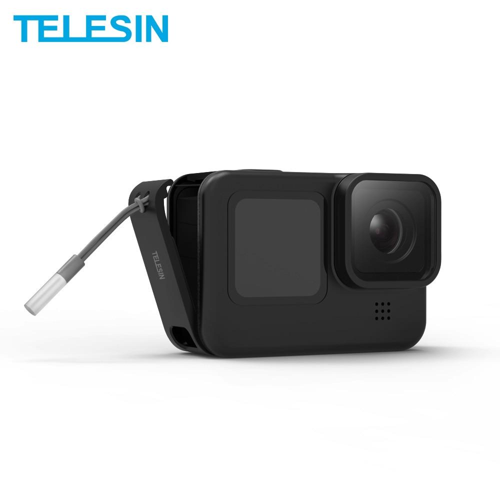 TELESIN For GoPro 9 Battery Side Cover Lid Removable Easy Type-C Charging Cover Port For GoPro Hero 9 Black