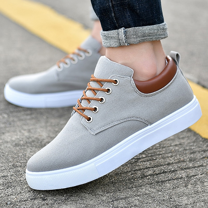Tooling sneakers canvas shoes men spring cycling platform sneakers boys student casual shoes 2021