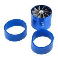 F1-Z Universal Single-Sided Turbine Engine Intake Turbocharger Intake Fuel Throttle Power Accessories Blue