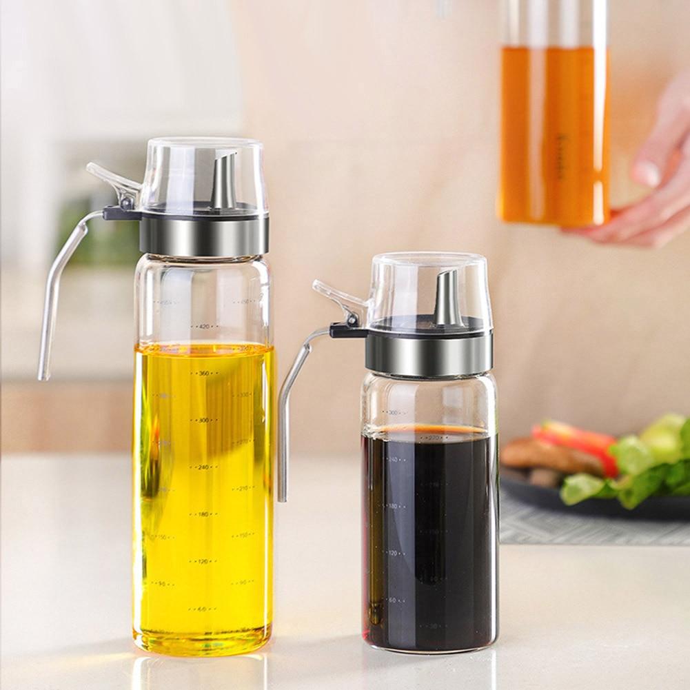300ml/500ml Glass Glass Olive Oil Sprayer Oil Spray Empty Bottle Vinegar Bottle Oil Dispenser Kitchen Cooking Barbecue Sprayer