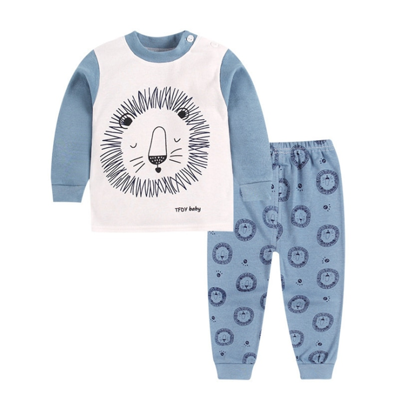 Niña primavera set 2020 de manga larga de algodón de dibujos animados 1 2 3 4 5 año ropa de bebé otoño 2 uds camiseta + Pantalones Bebé traje