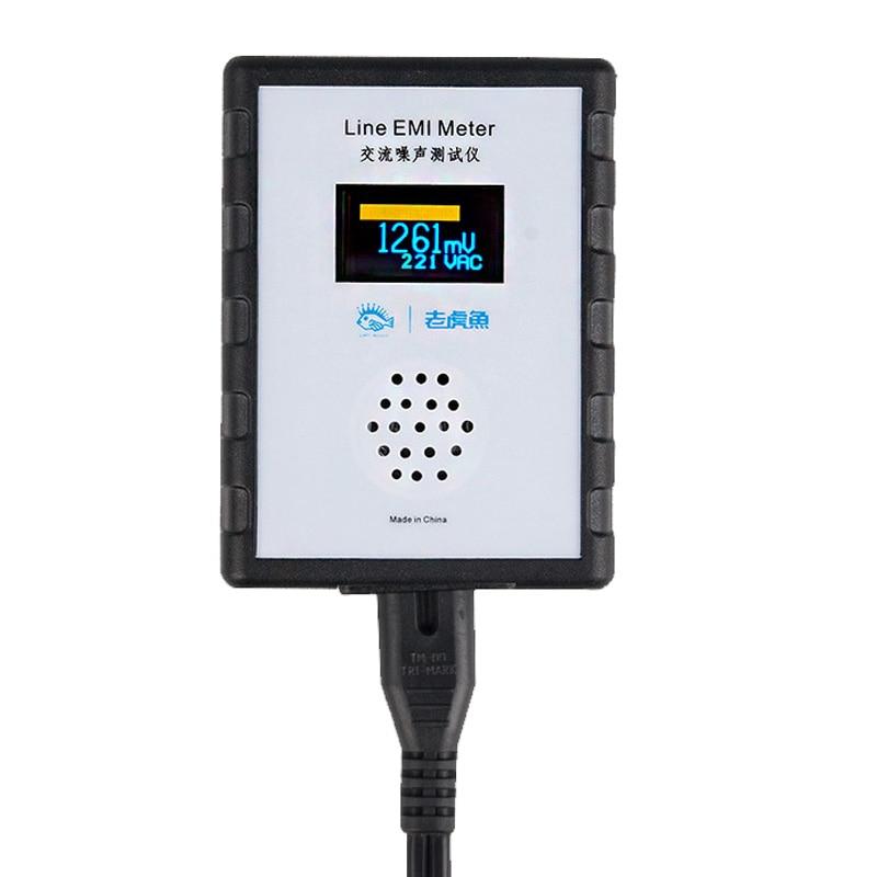 جديد OLED عرض التيار الكهربائي اختبار الضوضاء EMI قياس أداة النطاق العريض مصدر كهرباء بتيار ترددي تموج محلل خط EMI متر
