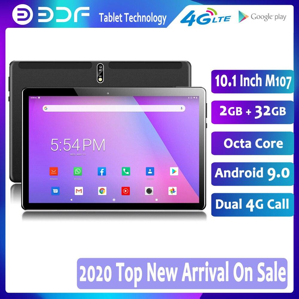 Tableta Android 2020 de 9,0 pulgadas, nueva, 10,1, 32GB ROM, Octa Core, teléfono 4G LTE, llamada Dual SIM, tableta IPS, WiFi, GPS, Google Play 10, 9 tab