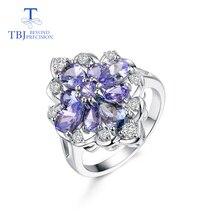 TBJ,tanzanite anneau pierre gemme naturelle en argent sterling 925 luxe brillant pierre précieuse bijoux pour dame femmes maman femme comme cadeau