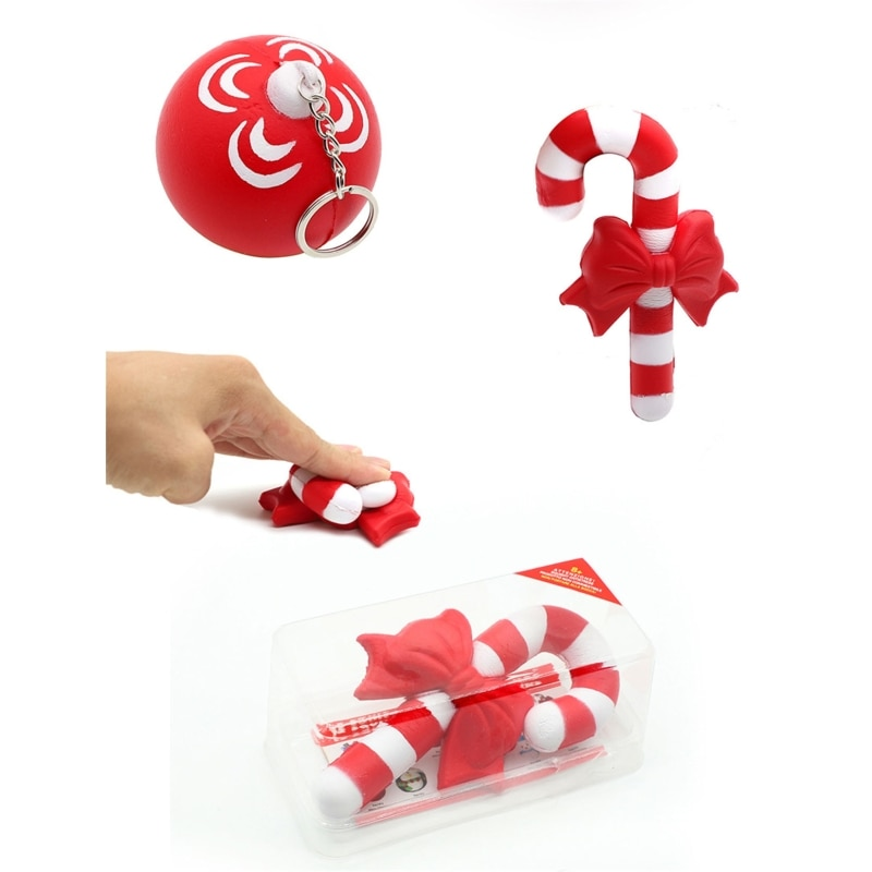 1Box Christmas Gift Xmas Squishy Squeeze Toys Slow Rising Cream Scented Antistress Child Kid Baby Toys enlarge