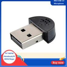 Mini USB 2,0 micrófono portátil estudio micrófono discurso Audio adaptador controlador gratis para portátil/Notebook/PC/MSN/Skype