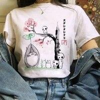 2021 studio ghibli spirited away hayao miyazaki kawaii print t shirt women harajuku aesthetic female tshirt white tops anime