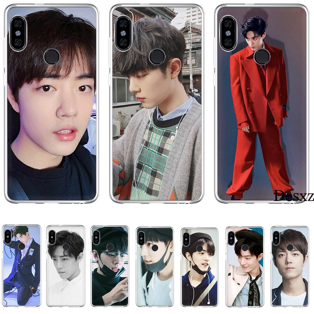 Mobile Phone Case for Xiaomi mi 6 8 A2 Lite A1 5X 6X F1 9 9SE SE MAX 3 A3 CC9 CC9E 9T Mix 2S Cover Handsome Boy Xiao zhan