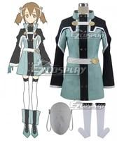 sword art online ordinal scale keiko ayano silica shirika movie outfit girls dress halloween party set cosplay costume e001