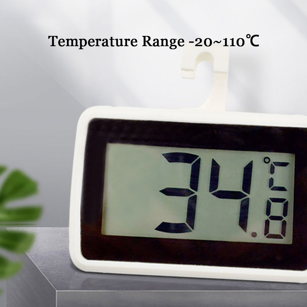High Precision Household Refrigerator Waterproof Thermometer With Magnet Hook Supermarket Freezer Freezer Frost Alarm Temperatur enlarge