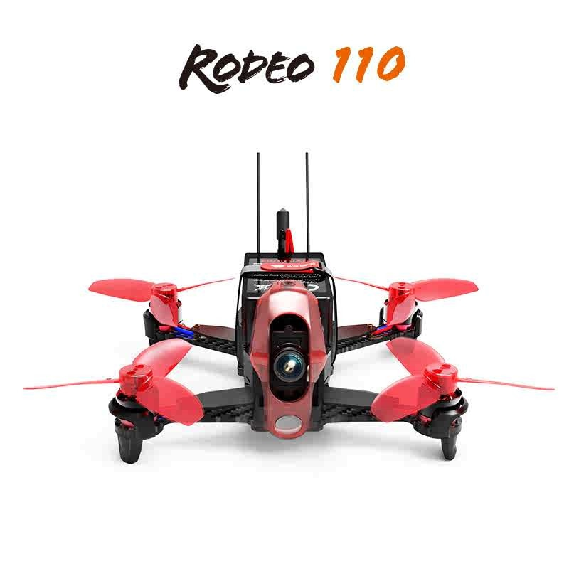 Walkera Rodeo 110 Racing Drone RC Quadcopter BNF FPV W/ DEVO 7 Transmitter Remote Controller With 60