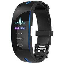 LYKRY montre intelligente ECG PPG fréquence cardiaque pression artérielle Bracelet intelligent montre Sport montre pour iphone xiaomi montre Fitness