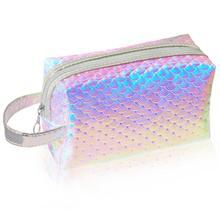 BEAUTYBIGBANG unicornio bolsa de cosméticos sirena bolsa de maquillaje Portátil de Arte de uñas caja de soporte de herramientas