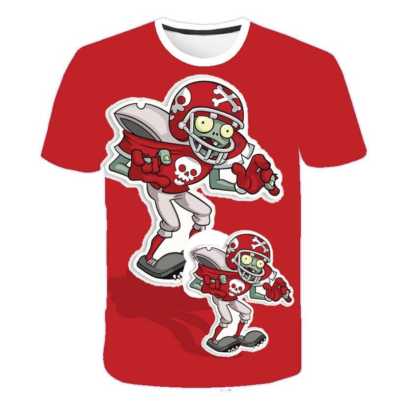 Kinder Spiel Pflanzen Vs Zombies Wars Design T-shirts Jungen/Mädchen Sommer Weiß T shirts Kid Kleidung Kleinkind Kurzarm tops T
