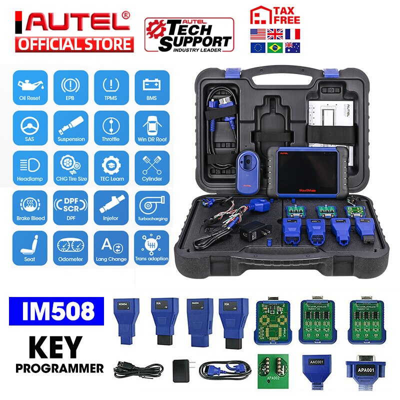 Autel MaxiIM IM508 OBD2 Auto Automotive Scanner IMMO Key Programming IM608 Diagnostic Tool Key Programmer Upgraded OtoSys IM100