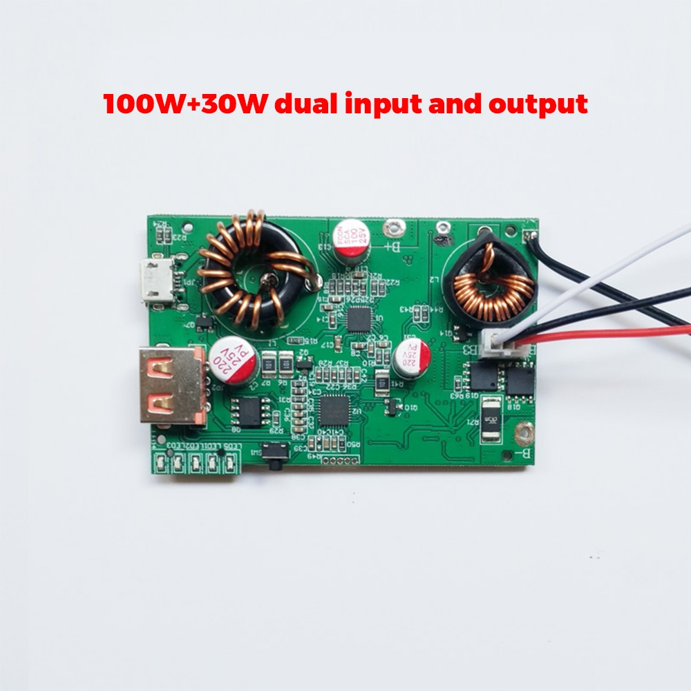 sc-1027 DIY Power Bank PD3.0/100W 30W Dual Input Dual Output Fast Charging Power Bank QC2.0 QC3.0 PD3.0 FCP AFC