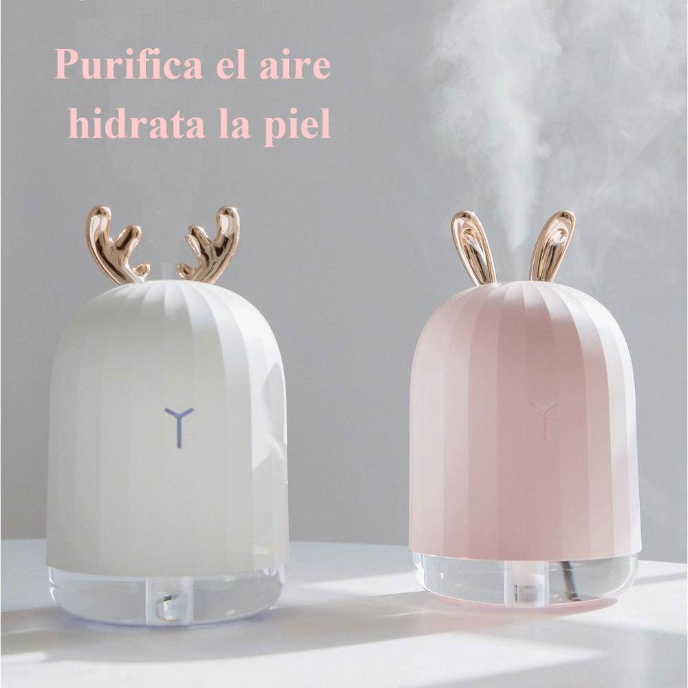 220 ml USB Nano Air Humidifier aromaterapia Máquina Clean Air Romantic Fogger Maker con LED para electrodomésticos