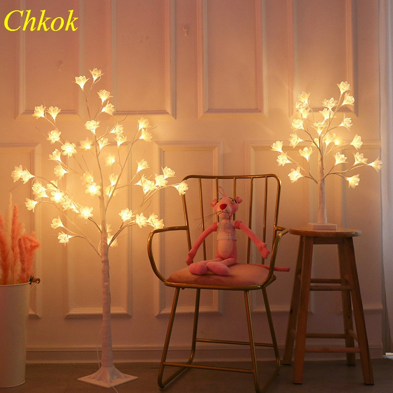 Chkok Christmas LED Orchid Glowing Tree Light Easter Display Light INDOOR Decoration Night Light Dinner Show Glowing Tree Light
