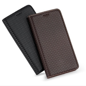 Top Grade Cowhide Genuine Leather Magnetic Phone Case For Xiaomi Redmi K30 Pro/Xiaomi Redmi K30 Holster Coque Card Slot Holder