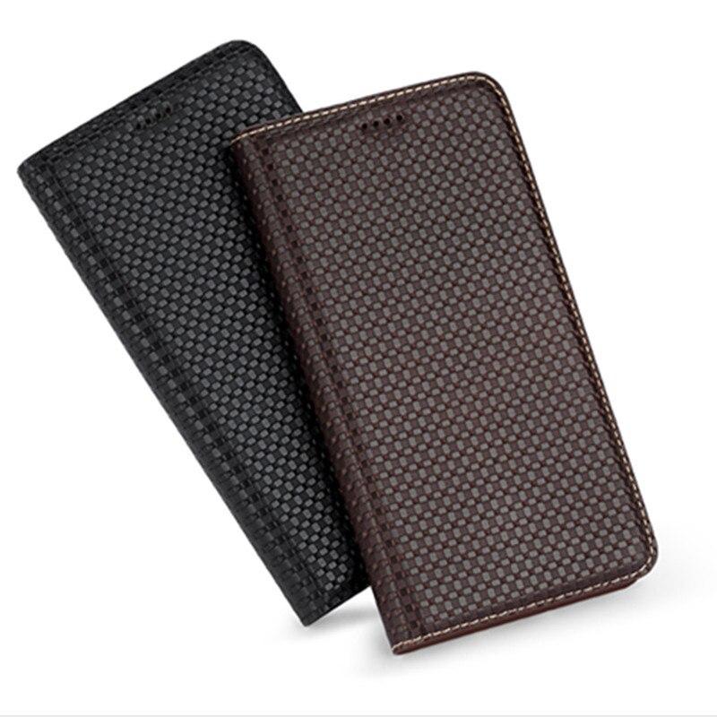 Funda de teléfono magnético de cuero de vaca de primera calidad para Motorola Moto Z Play XT1635/Moto Z XT1650 soporte con ranuras para tarjetas