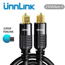Unnlink HIFI 5.1 SPDIF Fibra Ottica Toslink Cavo Audio 1m 2m 8m 10m per la TV box PS4 Cavo del Diffusore Soundbar Amplificatore Subwoofer