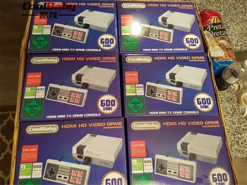 Mini consola de juegos de TV DHL 30 Uds compatible con consola de videojuegos Retro HDMI integrada de 8 bits 600, reproductor de juegos portátil de juegos clásicos