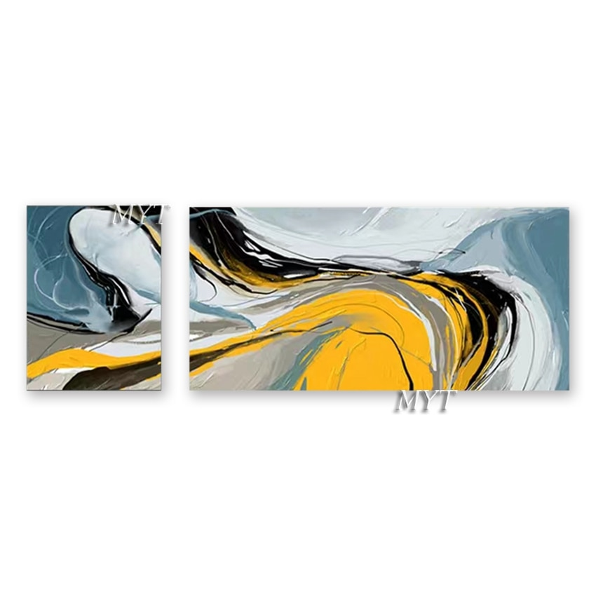 Pintados à Mão Pintura a Óleo da Lona Pendurado sem Moldura Arte de Decoração para Casa Novo Peças Parede Arte Abstrata Painéis Quadros 2