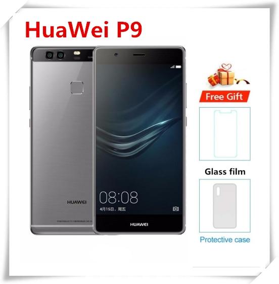 Original HuaWei P9 4G LTE Mobile Phone 12.0MP+12.0MP+8.0MP 3GB RAM 32GB ROM Kirin 955 Android 6.0 5.5