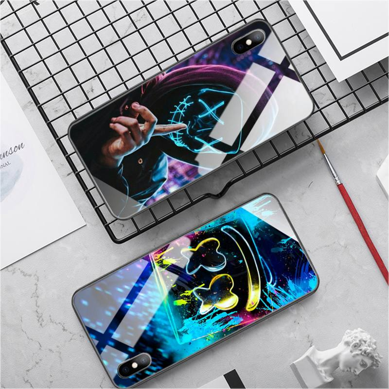 DJ Marshmallow etui na telefon szklany futerał na telefon projektant dla Ipohne 11 Pro Max 6S XR Back Cover Case dostawca