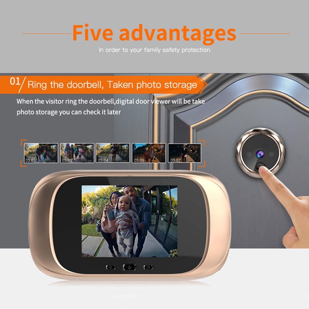 2.8 inch LCD Digital Doorbell 90 Degree Door Eye Doorbell Smart Electronic Peephole Door Video Camera Viewer Outdoor Door Bell enlarge