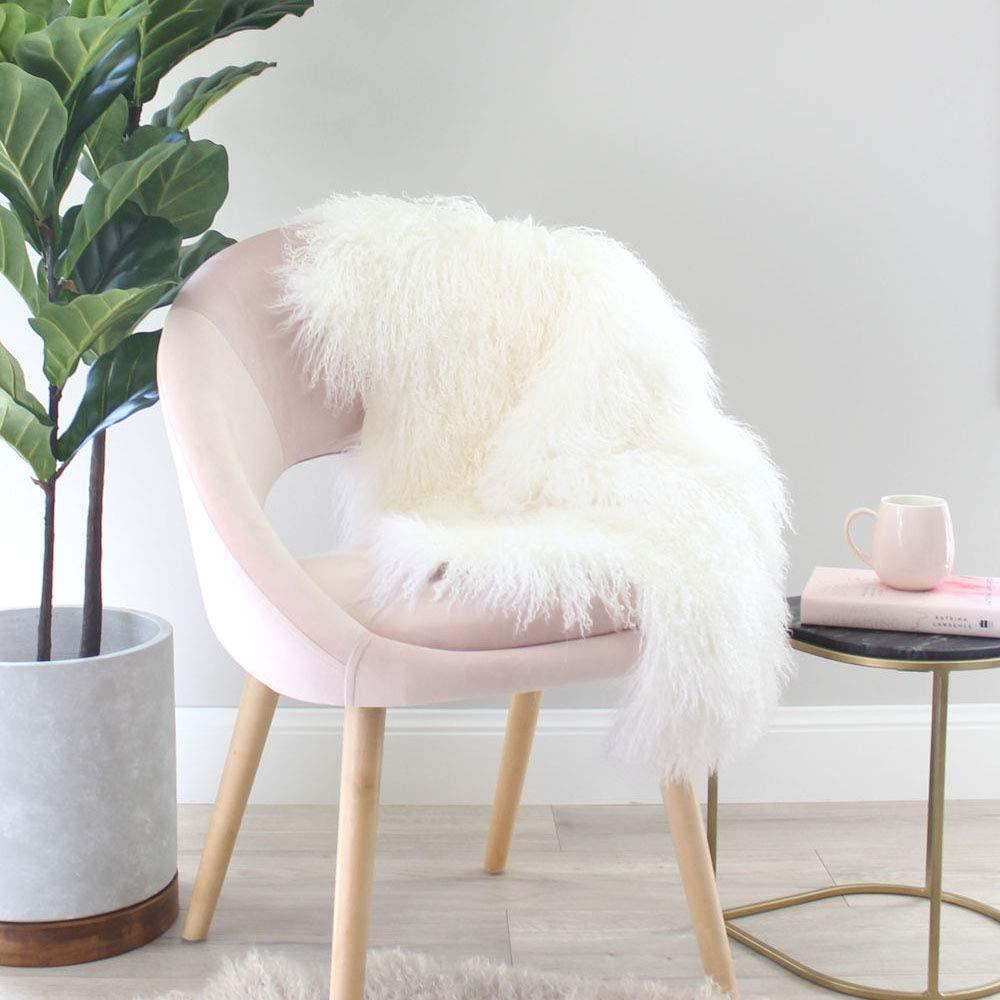 Tibetan Mongolian Sheepskin Curly Fur Rug Hide Pelt Throw Super Soft Fluffy Fur Area Rug Carpet Chair Cover Luxurious Home Decor