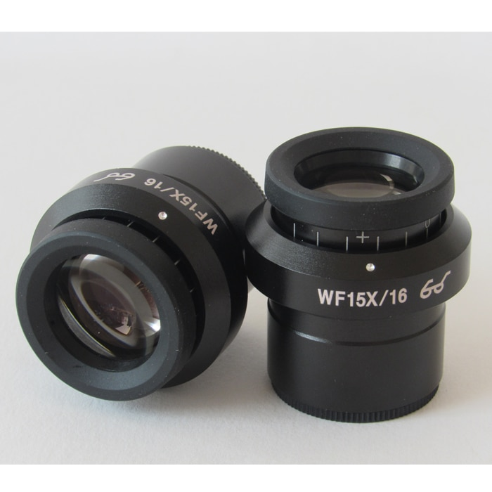Eyepiece High Eye Point Adjustable Flat Field WF15X Eyepiece. Stereo Microscope 15 Times 30mm Interface