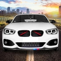 front grille trim strips for bmw 5 series f10 f11 f07 2000 2020 sport strip cover frame car decorations stickers accessories