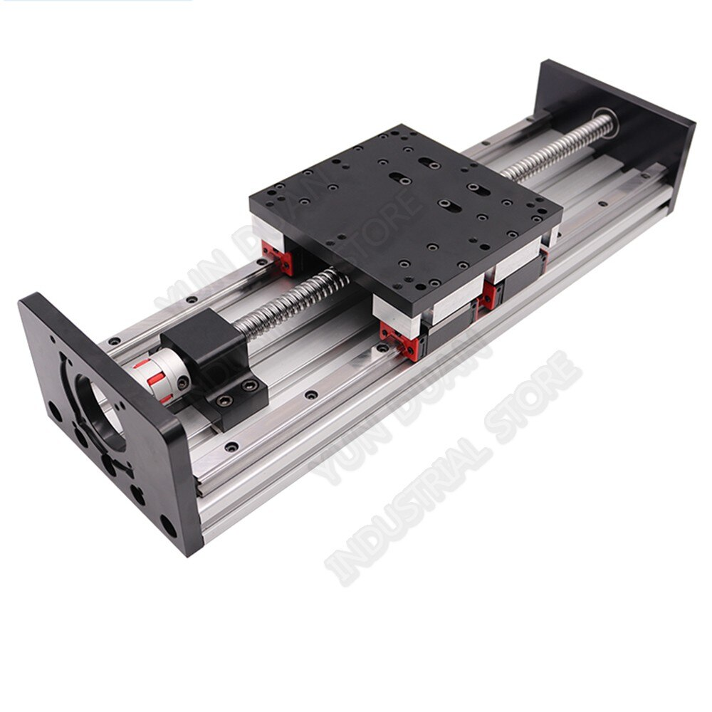 100MM-1000MM Stroke Heavy Load Slide table Platform Double Guide Rail HGR20 4PCS Slider 20MM Sliding Linear module Ballscrew CNC