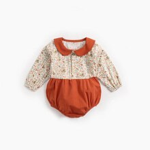ATUENDO Spring Fashion Newborn Baby Rompers 100% Cotton Kawaii Cute Silk Soft Babysuit Autumn Warm S